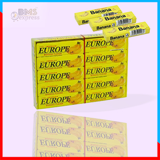 Europe Banana Flavored Chewing Gum 20pcs