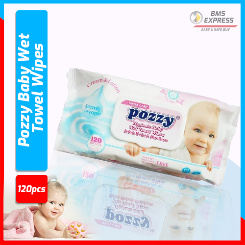Pozzy Baby Wet Towel Wipes - (120pcs)
