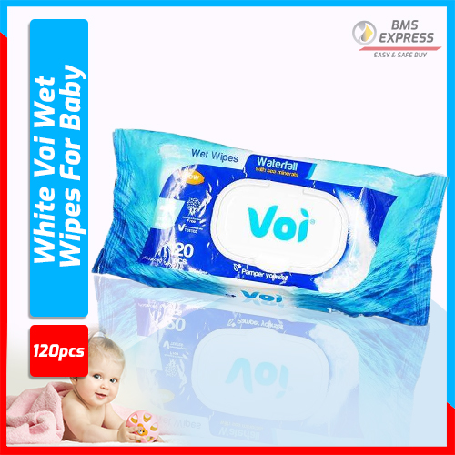 White Voi Wet Wipes For Baby - 120Pcs